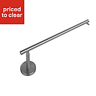 IT Kitchens Nickel effect Metal Wall mounted fitting