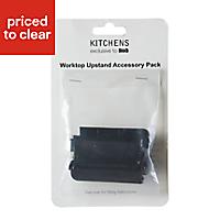 03378168 WORKTOP UPSTAND ACCESSORY KIT BLACK(SFC)