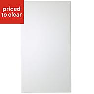IT Kitchens Santini Gloss White Slab Standard Cabinet door (W)400mm