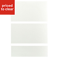 IT Kitchens Santini Gloss White Slab Drawer front (W)500mm, Set of 3