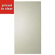 IT Kitchens Santini Gloss Cream Slab Fridge/Freezer Cabinet door (W)600mm