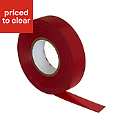 B&Q Red Insulation tape (L)33m (W)19mm
