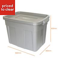 Grey 57L Plastic Storage box