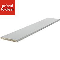 Cooke & Lewis Gloss White Straight Plinth, (L)2400mm