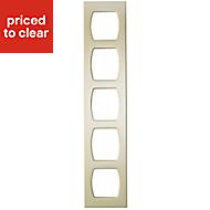 Cooke & Lewis High gloss Cream Wine rack frame, (H)720mm (W)150mm