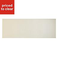 Cooke & Lewis Raffello High Gloss Cream Bridging door & pan drawer front, (W)1000mm