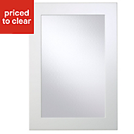 Cooke & Lewis Raffello High Gloss White Glazed Cabinet door (W)500mm