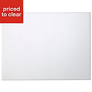 Cooke & Lewis Raffello High Gloss White Belfast sink Cabinet door (W)600mm