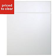 Cooke & Lewis Raffello High Gloss White Drawerline door & drawer front, (W)600mm