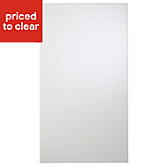Cooke & Lewis Raffello High Gloss White Tall Cabinet door (W)500mm