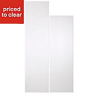 Cooke & Lewis Raffello High Gloss White Larder Cabinet door (W)300mm, Set of 2