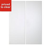 Cooke & Lewis Raffello High Gloss White Wall corner Cabinet door (W)250mm, Set of 2