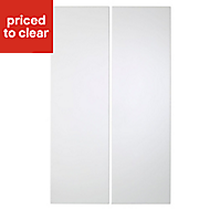 Cooke & Lewis Raffello High Gloss White Tall corner Cabinet door (W)250mm, Set of 2