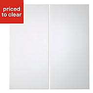 Cooke & Lewis Raffello High Gloss White Base corner Cabinet door (W)925mm, Set of 2