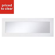 Cooke & Lewis Raffello High Gloss White Glazed bridging door & pan drawer front, (W)1000mm