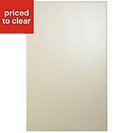 Cooke & Lewis Raffello High Gloss Cream Standard Cabinet door (W)450mm