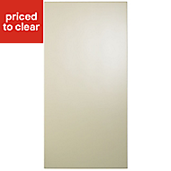 Cooke & Lewis Raffello High Gloss Cream Tall Cabinet door (W)450mm