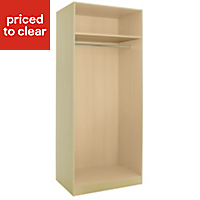 Cooke & Lewis Cream Double wardrobe carcass (H)2112mm (W)900mm (D)590mm
