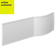 Cooke & Lewis Adelphi White Bath front panel (W)1500mm