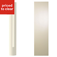 Cooke & Lewis High gloss Cream Curved Dresser pliaster, (H)1342mm