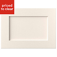 Cooke & Lewis Ivory Framed Integrated extractor fan Cabinet door (W)600mm