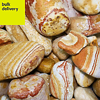 Blooma Brown Stone Cobbles, Large 22.5kg Bag