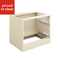 Cooke & Lewis Cream Bedside cabinet carcass (H)549mm (W)610mm (D)578mm