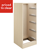 Cooke & Lewis Maple effect Tallboy cabinet carcass (H)1141mm (W)460mm (D)578mm