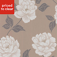 Colours Ella Stone Floral Textured Wallpaper