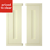 IT Kitchens Holywell Ivory Style Framed Wall corner Cabinet door (W)250mm, Set of 2