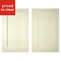 IT Kitchens Holywell Ivory Style Framed Cabinet door (W)600mm, Set of 2