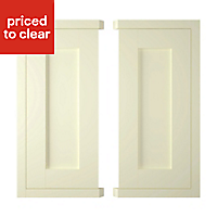 IT Kitchens Holywell Ivory Style Framed Base corner Cabinet door (W)925mm, Set of 2