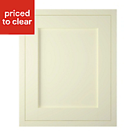 IT Kitchens Holywell Ivory Style Framed Fridge/Freezer Cabinet door (W)600mm