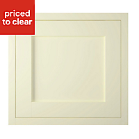 IT Kitchens Holywell Ivory Style Framed Integrated appliance Cabinet door (W)600mm