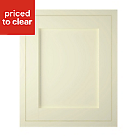 IT Kitchens Holywell Ivory Style Framed Standard Cabinet door (W)600mm