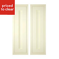IT Kitchens Ivory Style Framed Cabinet door (W)300mm, Set of 2