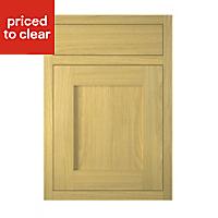 IT Kitchens Framed Oak Style Drawerline door & drawer front, (W)500mm
