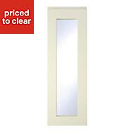 Cooke & Lewis Appleby High Gloss Cream Tall glazed Cabinet door (W)300mm