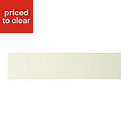Cooke & Lewis Appleby High Gloss Cream Oven Filler Panel (H)115mm (W)597mm