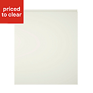 Cooke & Lewis Appleby High Gloss Cream Integrated appliance Cabinet door (W)600mm
