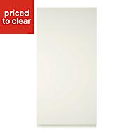 Cooke & Lewis Appleby High Gloss Cream Tall Cabinet door (W)450mm