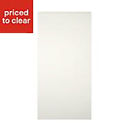 Cooke & Lewis Appleby High Gloss Cream Fridge/Freezer Cabinet door (W)600mm