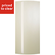 Cooke & Lewis Raffello High Gloss Cream Tall wall door Cabinet door