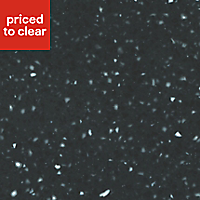 34mm Black star Black & light grey Stone effect Earthstone Round edge Kitchen Breakfront Worktop, (L)3000mm
