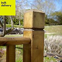 B&Q Timber Balustrade post (H)1.15m (W)85 mm
