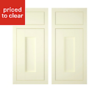 IT Kitchens Holywell Ivory Style Framed Cabinet door, (W)925mm