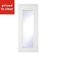 Cooke & Lewis Appleby High Gloss White Glazed Cabinet door (W)300mm