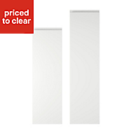 Cooke & Lewis Appleby High Gloss White Tall Larder Cabinet door (W)300mm, Set of 2