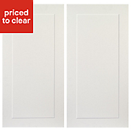 IT Kitchens Stonefield Ivory Classic Wall corner Cabinet door (W)250mm, Set of 2