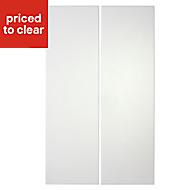 IT Kitchens Stonefield Ivory Classic Base corner Cabinet door (W)925mm, Set of 2